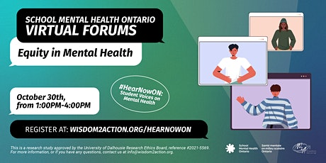 #HearNowON: Equity and Identity X mental health at school tickets