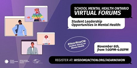 #HearNowON: Student Leadership Opportunities in Mental Health tickets