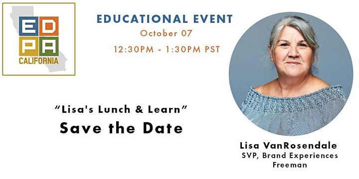 EDPA California Educational Zoom w/ Lisa @ Freeman XP image