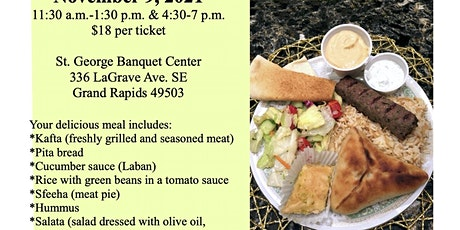St. George Church Annual Middle Eastern Lunch and Dinner tickets