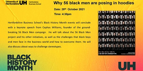 Why 56 black men are posing in hoodies tickets