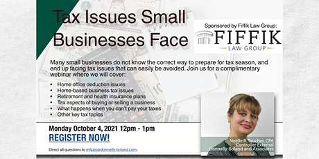 Small Business Guide to Getting Through Tax Issues tickets