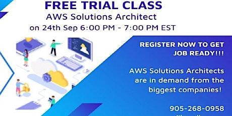 FREE Trial Class – AWS Solutions Architect boletos