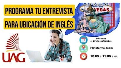 Entrevista de Ubicación de Inglés boletos