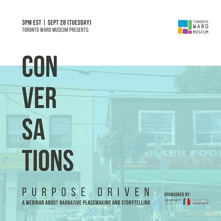 Purpose Driven: A Webinar  Series On How Community Stories Affect Our Work image