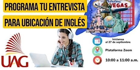 Entrevista de Ubicación de Inglés ingressos