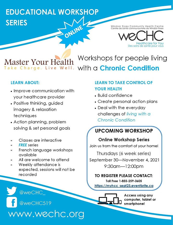 Master Your Health Webinar - FREE ONLINE Chronic Conditions Workshop Series image