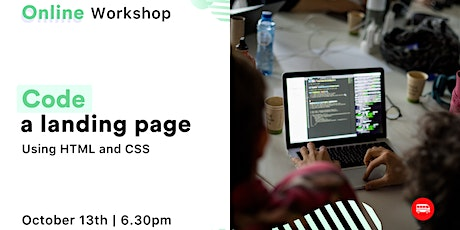 [Free online workshop] Code your first Landing Page tickets