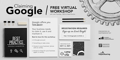 Claiming Google with Julie Tremblay tickets