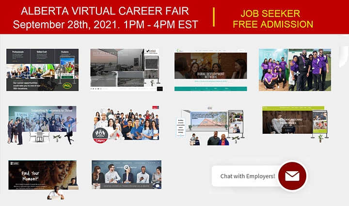 Calgary Virtual Job Fair - Tuesday, September 28th 2021 image