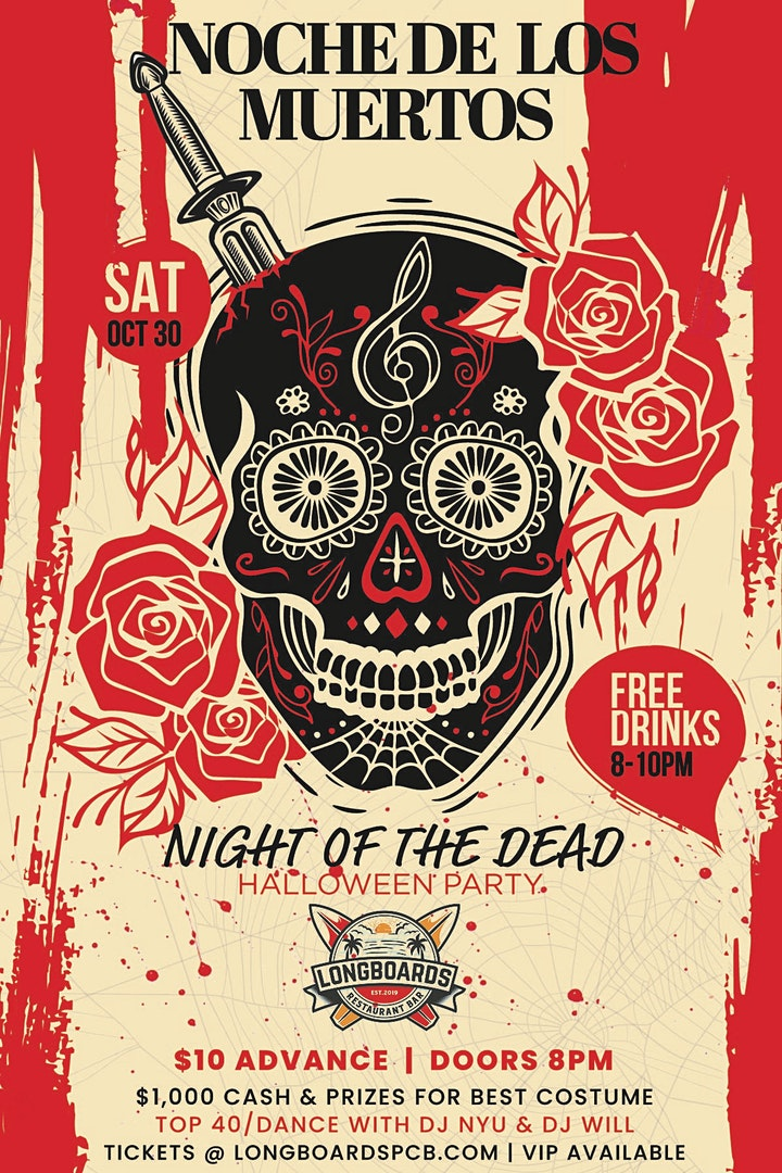 NIGHT OF THE DEAD HALLOWEEN PARTY:  LONGBOARDS image