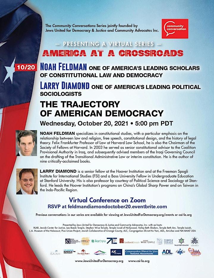 The Trajectory of American Democracy: Noah Feldman, Harvard Law Prof. image