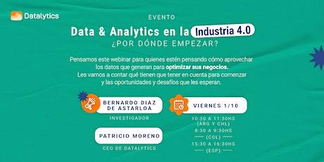 Data & Analytics en la Industria 4.0, ¿por dónde empezar? boletos