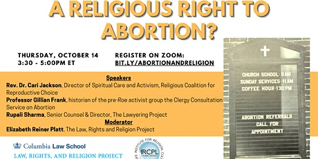 A Religious Right to Abortion? tickets