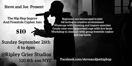Hip Hop Improv and Freestyle Cypher Jam tickets
