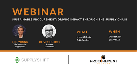 Sustainable Procurement: Driving Impact Through The Supply Chain tickets