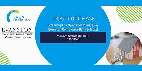 Post Purchase (Open Communities & Evanston Community Bank & Trust) tickets