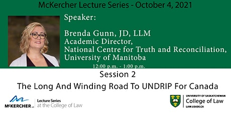 McKercher Lecture Series presents: Brenda Gunn tickets