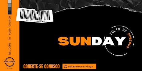 CULTO DOMINGO (24/10) 18H00 ingressos