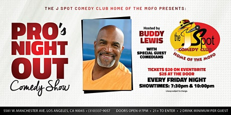 The J Spot Comedy Show Presents: The Pro's Night Out Comedy Show tickets