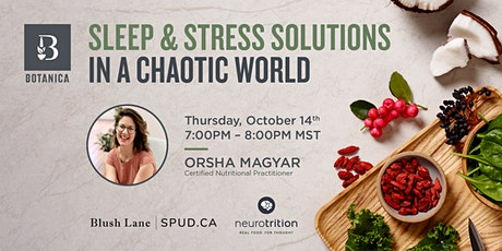 Sleep & Stress Solutions in a Chaotic World billets