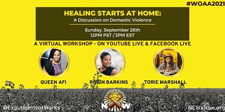 Healing Starts at Home: A Discussion on Domestic Violence tickets