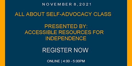 ALL ABOUT SELF-ADVOCACY CLASS tickets