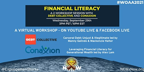 Financial Literacy - A 2 workshop session with Debt Collective and Conaxion tickets