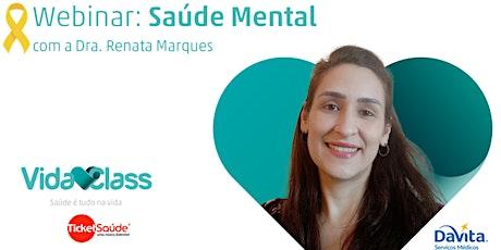 Webinar Saúde Mental ingressos