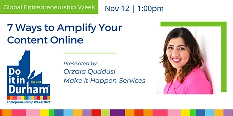 7 Ways to Amplify Your Content Online tickets
