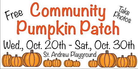 Community Pumpkin Patch tickets