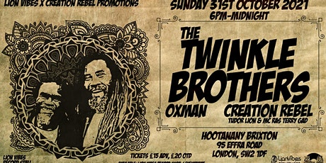The Twinkle Brothers @ Hootananny Brixton tickets