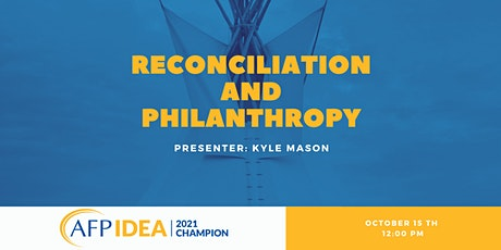 Reconciliation and Philanthropy - Conversation Series tickets