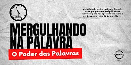 MERGULHANDO NA PALAVRA (11/10) 20h00 ingressos