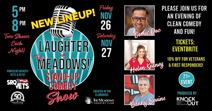 FRIDAY, NOV. 26TH - 5 PM SHOW - LAUGHTER IN THE MEADOWS image
