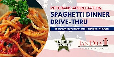 Veterans Appreciation  Spaghetti Dinner  Drive-Thru tickets