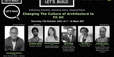 LET'S TALK: Changing the Culture of Architecture to Fit All tickets
