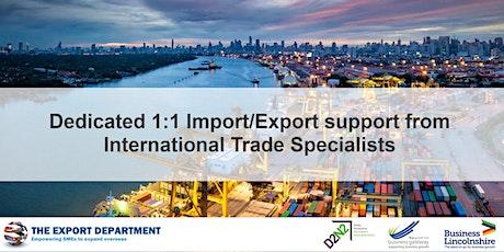 1st Oct - International Trade 1:1 support tickets