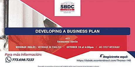 Developing a Business Plan tickets