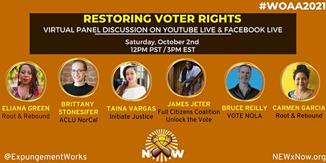 National Expungement Works Panel: Restoring Voter Rights tickets