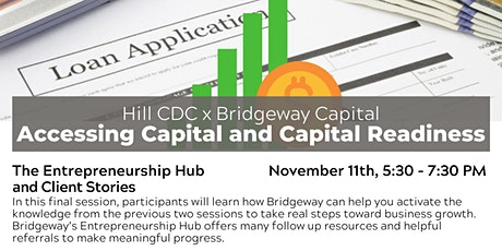 Capital Accessibility and Readiness: The Entrepreneurship Hub & Client Stor tickets
