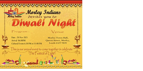 Morley Indians Annual Diwali Get Together 2021 tickets