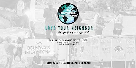 No Boundaries International Fundraiser Brunch -- October 17, 2021 12:30 - 2 tickets