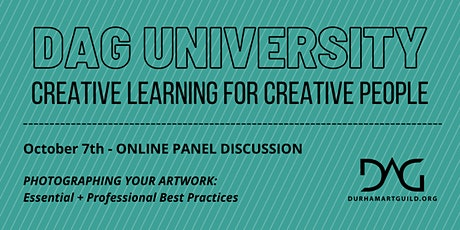 PHOTOGRAPHING YOUR ARTWORK: Essential + Professional Best Practices tickets