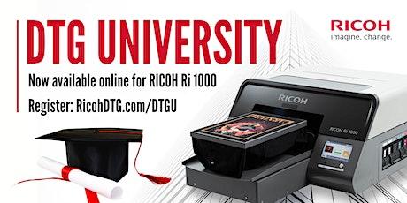 Ricoh DTG University tickets