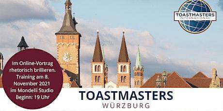 Im Online-Vortrag rhetorisch brillieren mit den Toastmasters Tickets