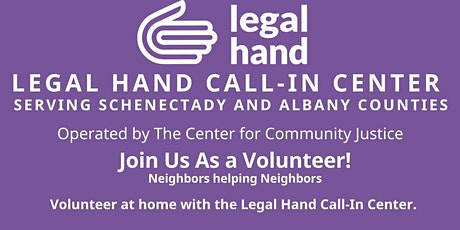 Legal Hand Call-In Center  Volunteer Information Session tickets