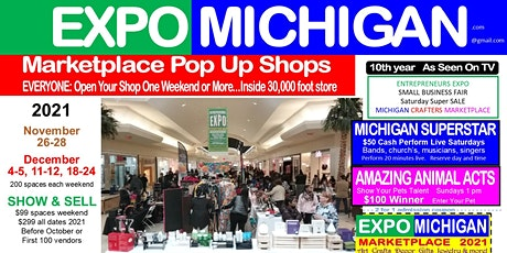 EXPO MICHIGAN marketplace  SPECIAL OFFER 1 space All Days, Get 1 space free tickets