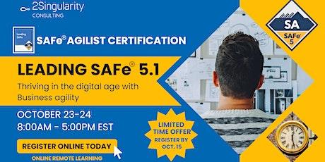 Leading SAFe® | SAFe® Agilist 5.1 ingressos
