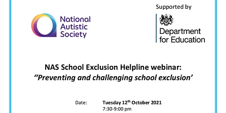 Preventing and challenging school exclusion webinar tickets
